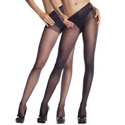 Lot de 2 collants opaque et transparent noir Body Touch-DIM