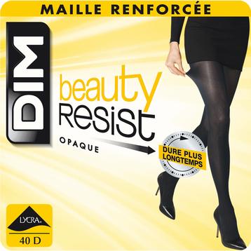 Lot de 3 (2+1 gratuits) collants opaques noirs Beauty Resist-DIM