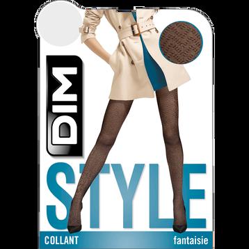Collant noir transparent motif chevrons Style 21D-DIM