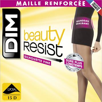 Collant Beauty Resist silhouette fine ambre 15D-DIM