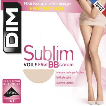 Collant Sublim beige rosé Voile Effet BB cream 16D-DIM