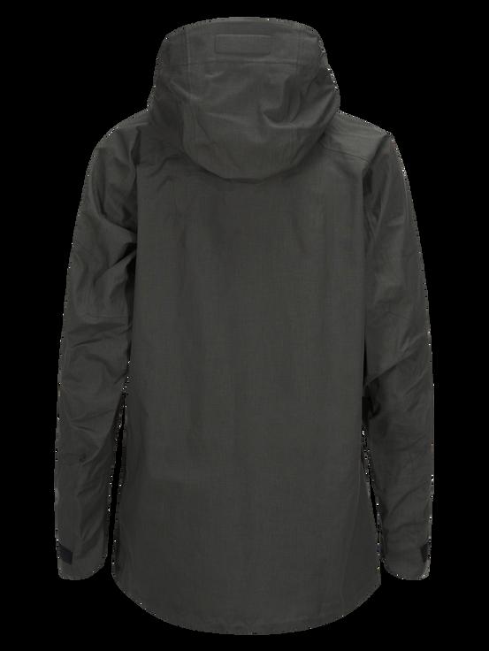 Men's Melange Teton Shell Ski Jacket Black Olive | Peak Performance