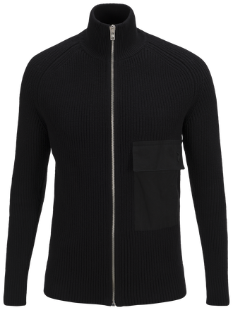 Men's Curtis Zipped Sweater Black | Peak Performance