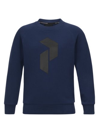 Kids tech crew neck Thermal Blue | Peak Performance