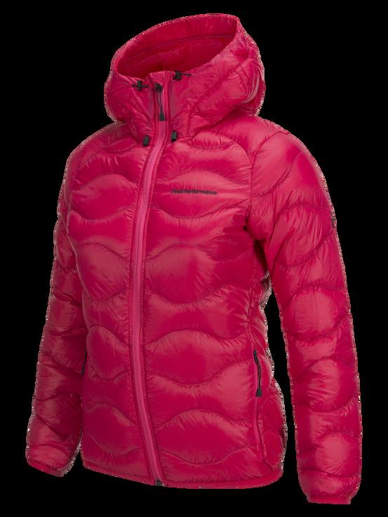 Women's Helium Hooded Jacket Pink Planet | Peak Performance