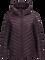 Women's Frost Down Hooded Jacket Mahogany | Peak Performance