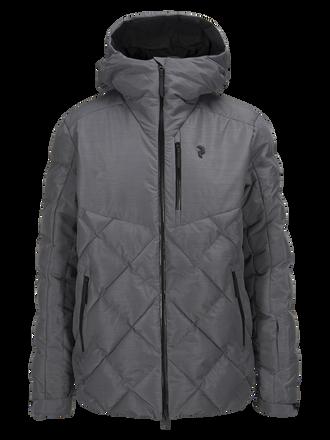 Men's Alaska Melange Ski Jacket Grey melange | Peak Performance