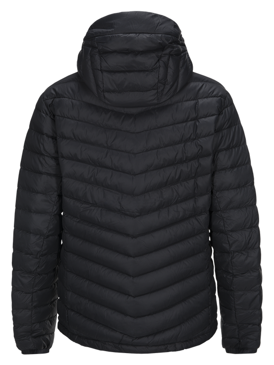 Men's Frost Down Hooded Jacket Black | Peak Performance