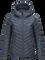 Women's Frost Down Hooded Jacket Blue Steel | Peak Performance