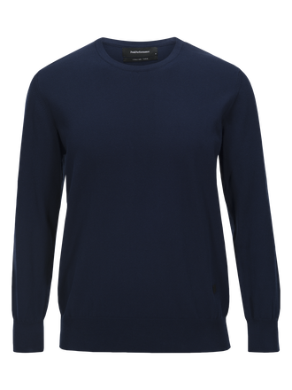 Men's James Crew neck Thermal Blue | Peak Performance