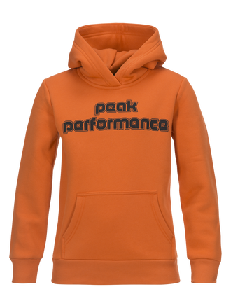 Kids Sportswear Printed Hoodie Orange Flow | Peak Performance