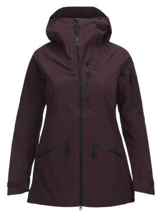 Women's  Radical 3-Layer Ski Jacket Mahogany | Peak Performance