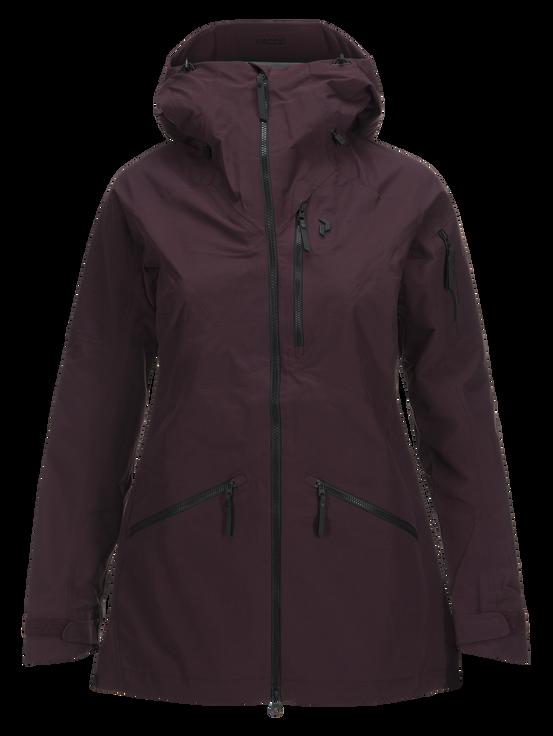 Women's  Radical 3-Layer Ski Jacket Mahogany | Peak Performance