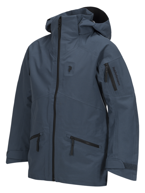 Kids Radical 3-Layer Ski Jacket Blue Steel | Peak Performance