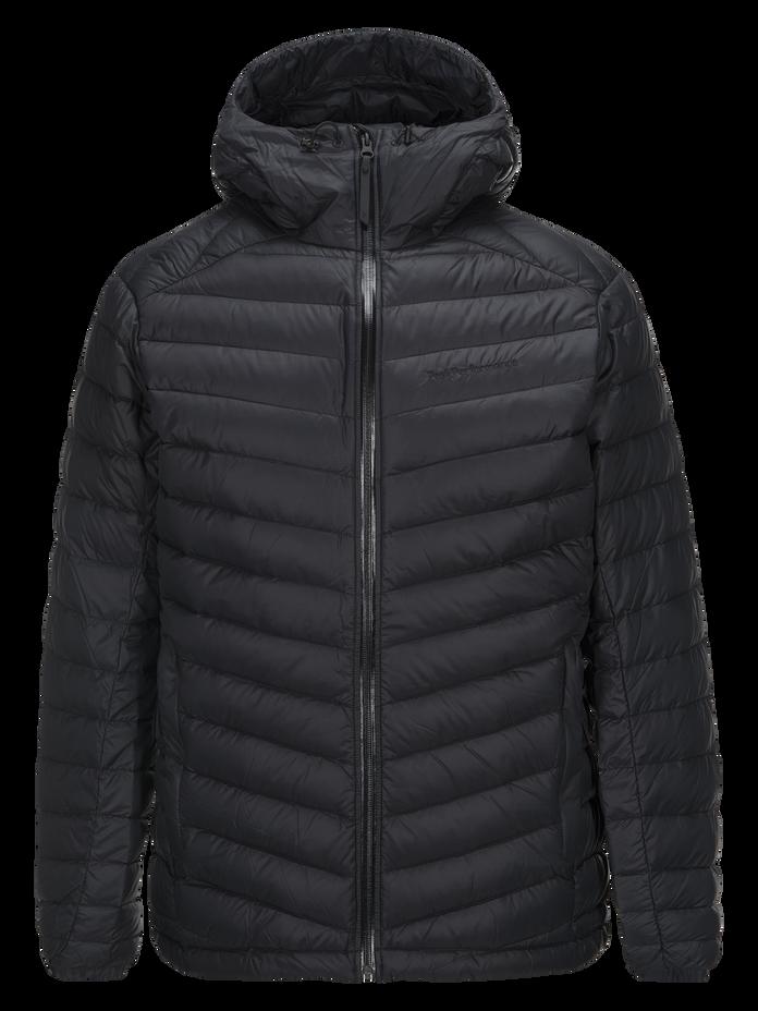 Men's Frost Down Hooded Jacket Black | Peak Performance