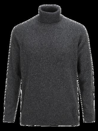Men's Barge Roll neck sweater Dk Grey Mel | Peak Performance