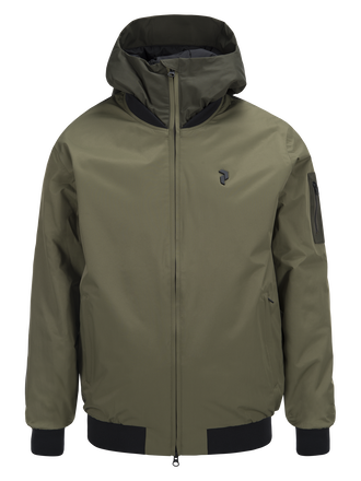 Men's Dodge Bomber Ski Jacket Soil Olive | Peak Performance