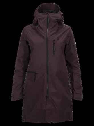 Women's Sapphire 2-Layer Shell Ski Jacket Mahogany | Peak Performance