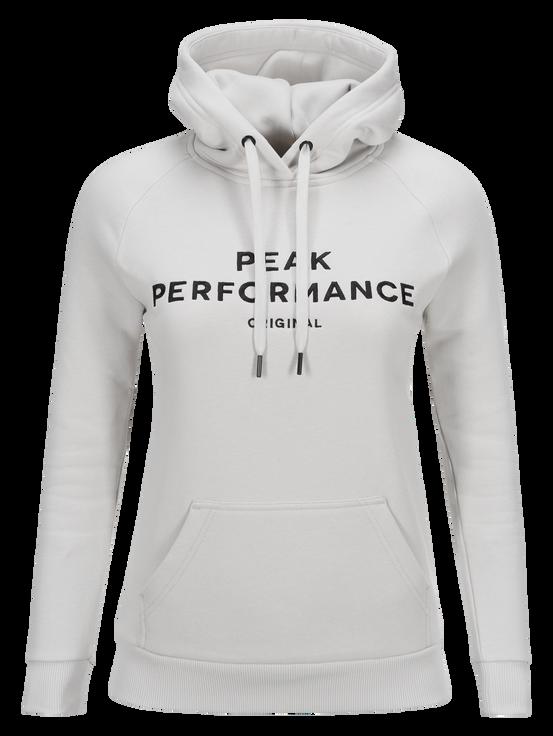 Damen Logo Hoodie Dk Offwhite | Peak Performance