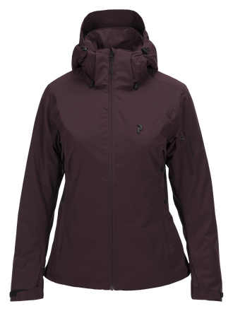 Women's Anima Ski Jacket Mahogany | Peak Performance