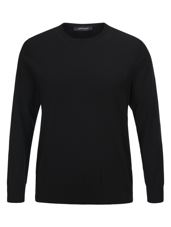 Men's Merino Crew neck Black | Peak Performance