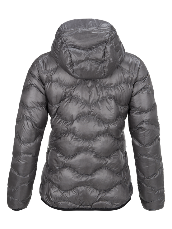 Women's BL Helium Hooded Jacket Quiet Grey | Peak Performance