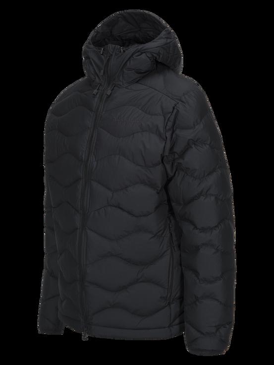 Men's Winter Helium Hooded Jacket Black | Peak Performance
