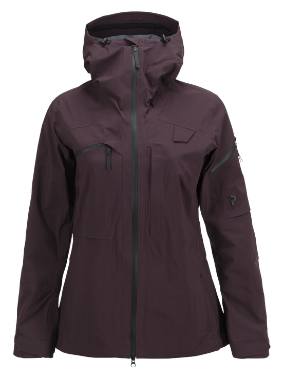 Women's Alpine Ski Jacket Mahogany | Peak Performance
