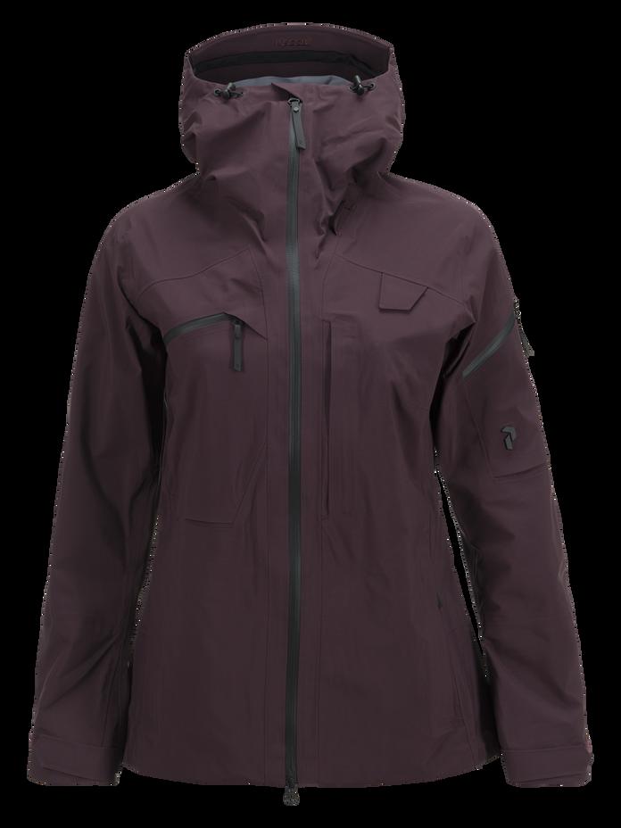 Women's Alpine Ski Jacket Mahogany | Peak Performance