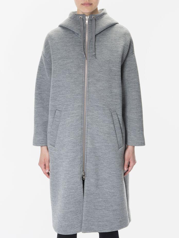 Women's Motion Hooded Coat Grey melange | Peak Performance