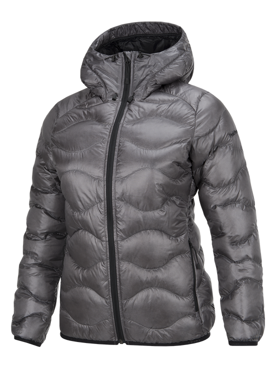 Damen BL Helium Mit Kapuze Jacke Quiet Grey | Peak Performance