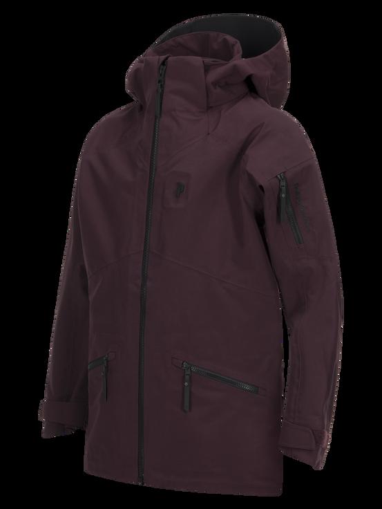 Kids Radical 3-Layer Ski Jacket Mahogany | Peak Performance