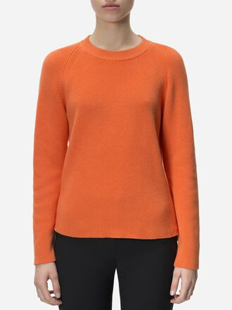 Women's Marge Crew neck Orange Flow | Peak Performance
