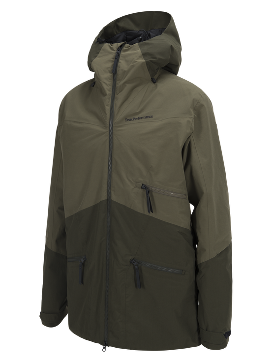 Men's Greyhawk  Ski Jacket Soil Olive | Peak Performance