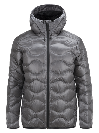 Men's BL Helium Hooded Jacket Quiet Grey | Peak Performance
