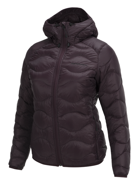 Women's Helium Hooded Jacket Mahogany | Peak Performance