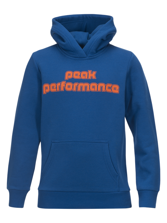 Kids Sportswear Printed Hoodie True Blue | Peak Performance