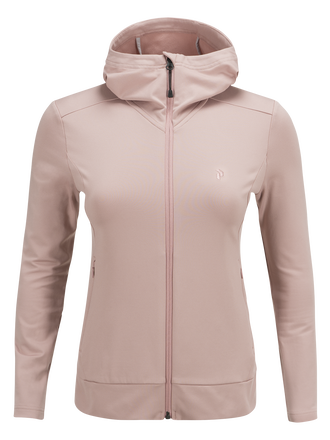 Women's Ace Zipped Hooded Mid-Layer Dusty Roses | Peak Performance
