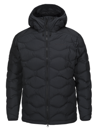 Men's Winter Helium Hooded Jacket Black | Peak Performance