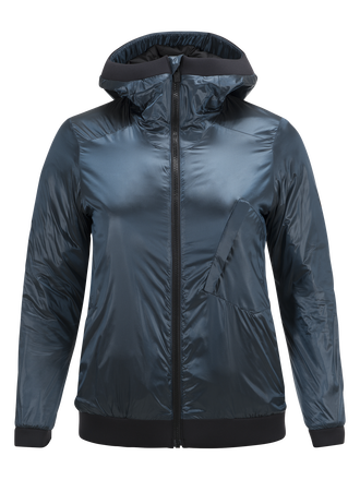 Damen Powderhound Liner Skijacke Blue Steel | Peak Performance