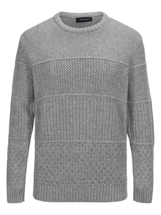 Men's Blake Crew neck Med Grey Mel | Peak Performance